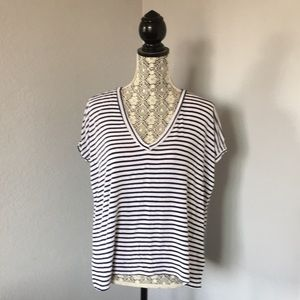 Brandy Melville Striped V-neck T-shirt
